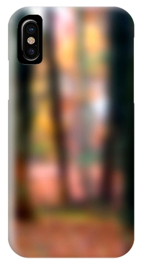 Autumn IPhone X Case featuring the painting Wooded Wonderland by Paul Sachtleben