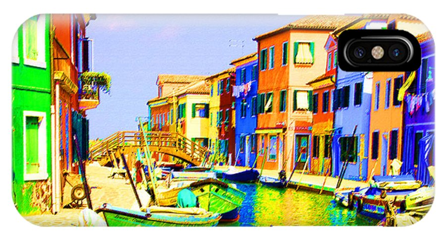 Burano IPhone Case featuring the pastel Wooden Bridge To Despar by Donna Corless