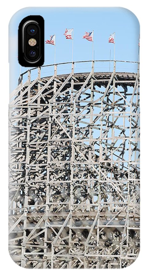 Pop Art IPhone X Case featuring the photograph Wooden Coaster by Rob Hans