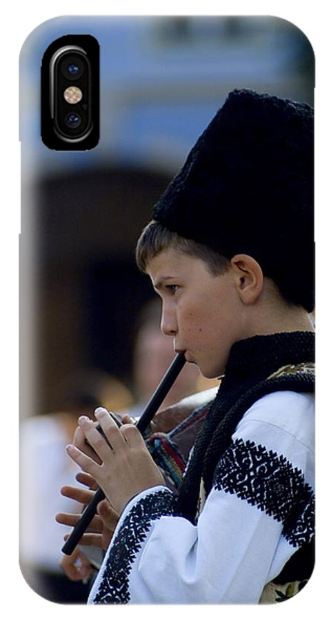 Wooden Flute IPhone X / XS Case featuring the photograph Wooden Flute by Adrian Bud