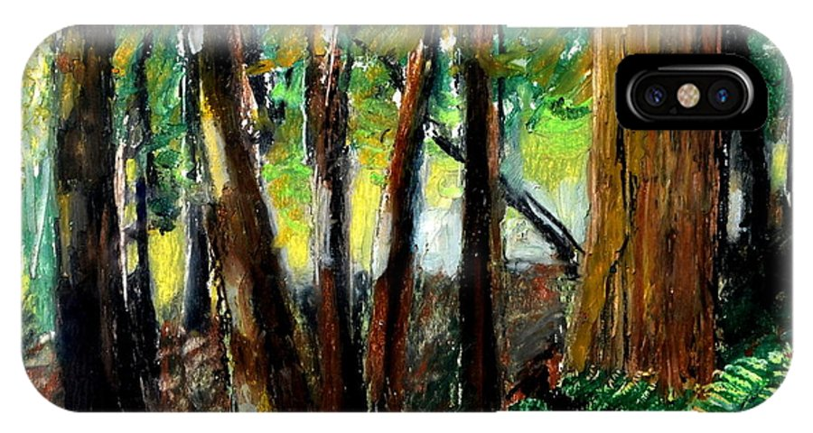 Livingston Trail IPhone Case featuring the drawing Woodland Trail by Michelle Calkins