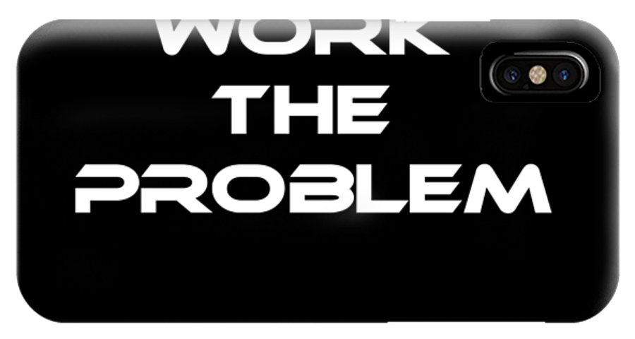 Work IPhone X Case featuring the digital art Work The Problem The Martian Tee by Edward Fielding