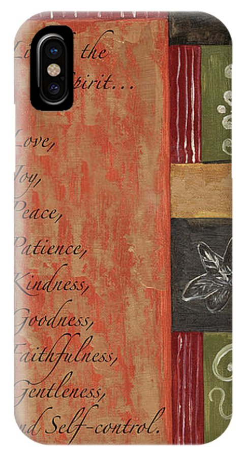 Bible IPhone X Case featuring the painting Words To Live By, Fruit Of The Spirit by Debbie DeWitt