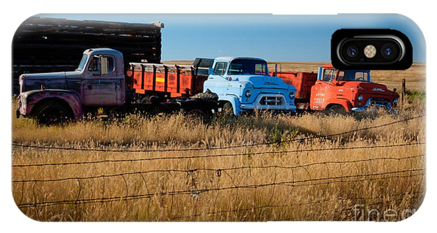 Trucks IPhone X / XS Case featuring the photograph Working Boys by Idaho Scenic Images Linda Lantzy