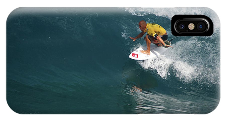 Kelly Slater IPhone X Case featuring the photograph World Champion In Action by Kevin Smith