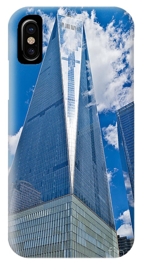 Twin Towers IPhone X Case featuring the photograph World Trade Center by John Waclo