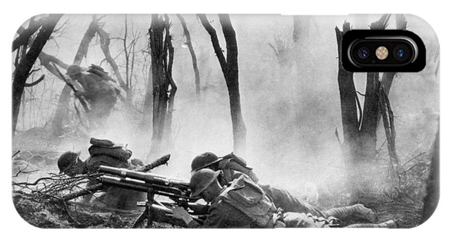 1918 IPhone X Case featuring the photograph World War I: Battlefield by Granger
