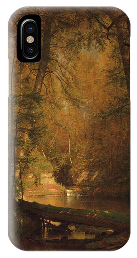 The Trout Pool IPhone X Case featuring the painting Worthington Whittredge by MotionAge Designs