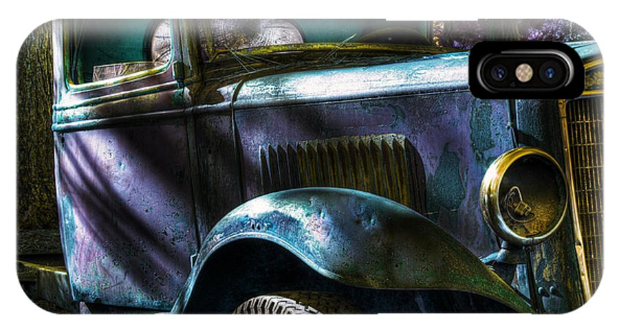 Digital Fantasy IPhone X Case featuring the photograph Wrecking Yard Fantasy by Lee Santa