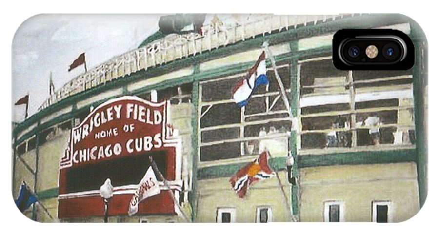 Wrigley Field IPhone X Case featuring the painting Wrigley Field by Travis Day