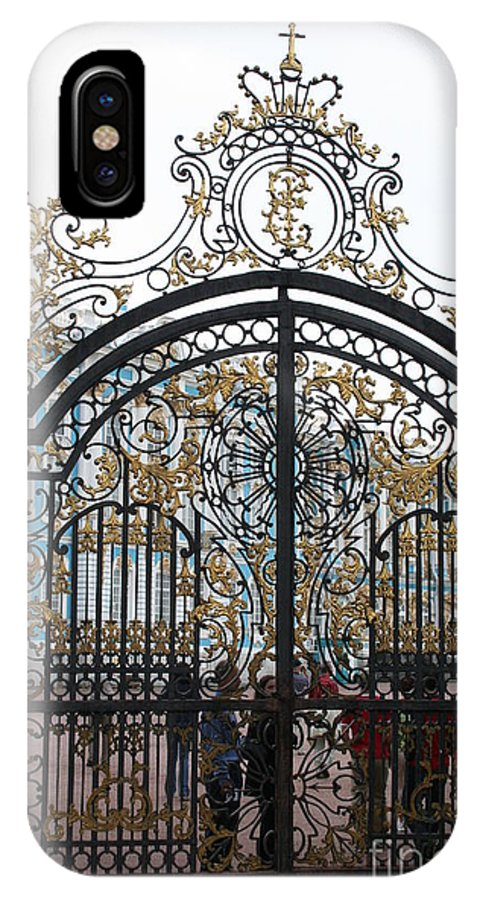 Gate IPhone X Case featuring the photograph Wrought Iron Gate by Christiane Schulze Art And Photography