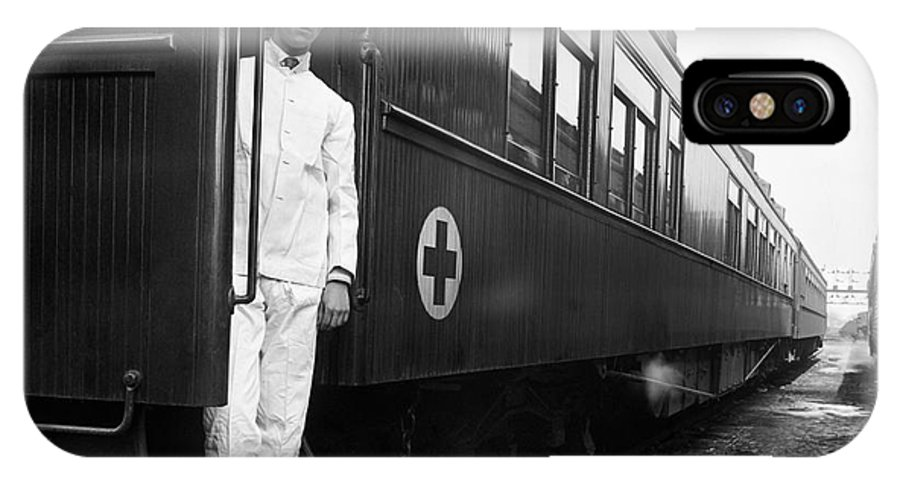 1917 IPhone X Case featuring the photograph Ww I: Red Cross Railroad by Granger