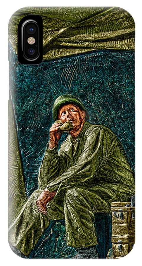 National Wwii Memorial IPhone X Case featuring the photograph WWII Radioman by Christopher Holmes