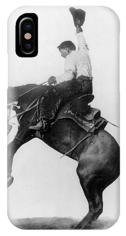1911 IPhone X Case featuring the photograph Wyoming: Cowboy, C1911 by Granger