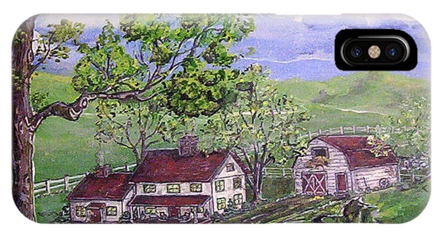 Landscape IPhone Case featuring the painting Wyoming Homestead by Phyllis Mae Richardson Fisher