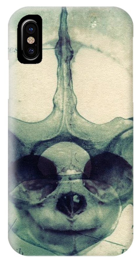 Polaroid Transfer IPhone X Case featuring the photograph X Ray Terrestrial No. 13 by Jane Linders
