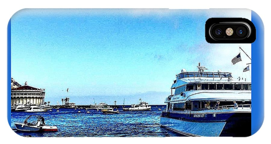 Yacht IPhone X Case featuring the photograph Yachtsee by Malcolm Virgil