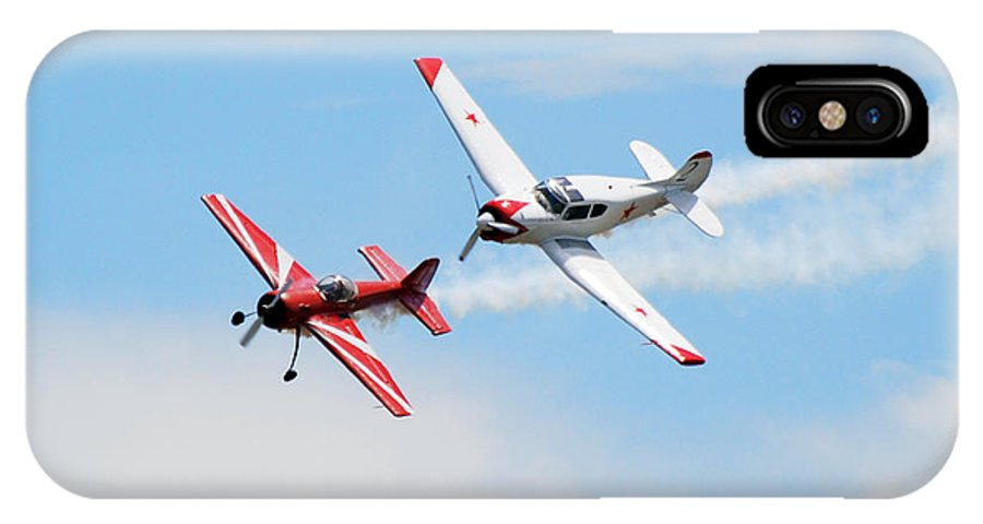 Airplanes IPhone X Case featuring the photograph Yak 55 and Yak 18 by Larry Keahey