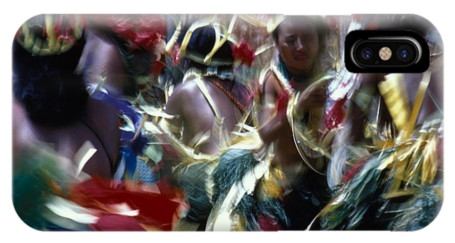 Swirling IPhone Case featuring the photograph Yap Dancers In Micronesia by Carl Purcell