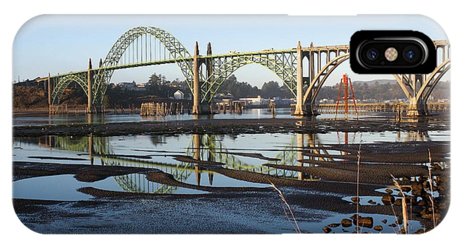 Yaquina Bay Bridge IPhone X Case featuring the photograph Yaquina Bay Bridge by Claire McGee