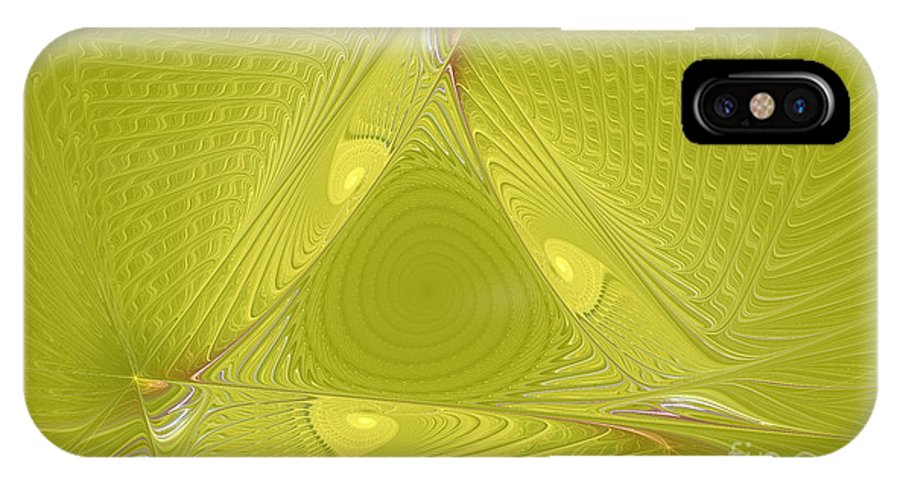 Fractal IPhone X Case featuring the photograph Yellow Anyone by Deborah Benoit