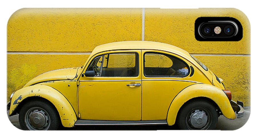 Yellow IPhone Case featuring the photograph Yellow Bug by Skip Hunt