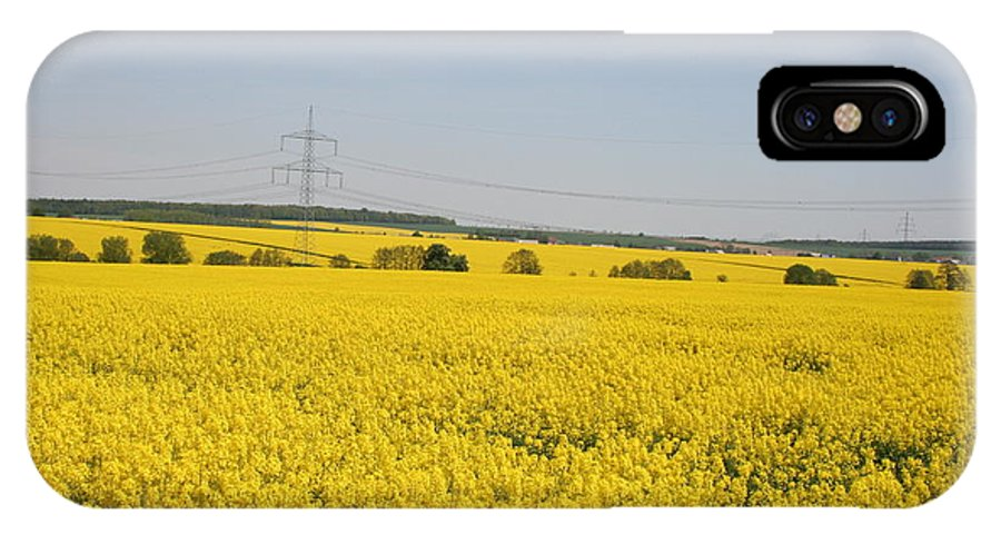 Canola Field IPhone X / XS Case featuring the photograph Yellow Canola Field by Christiane Schulze Art And Photography