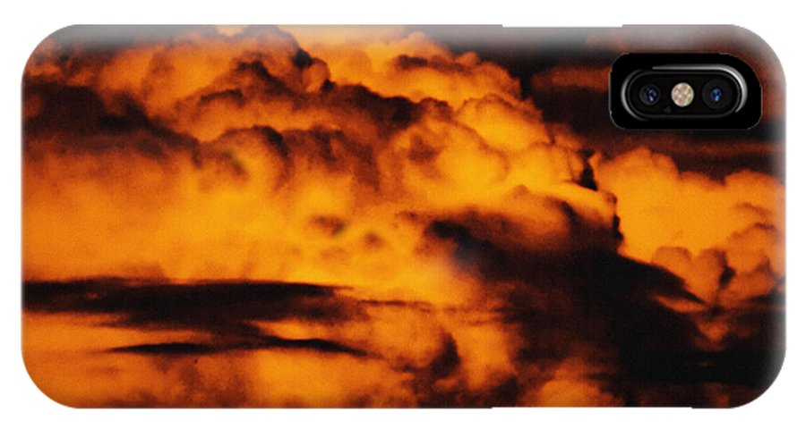 Cloud IPhone X Case featuring the digital art Clouds Time by Max Steinwald
