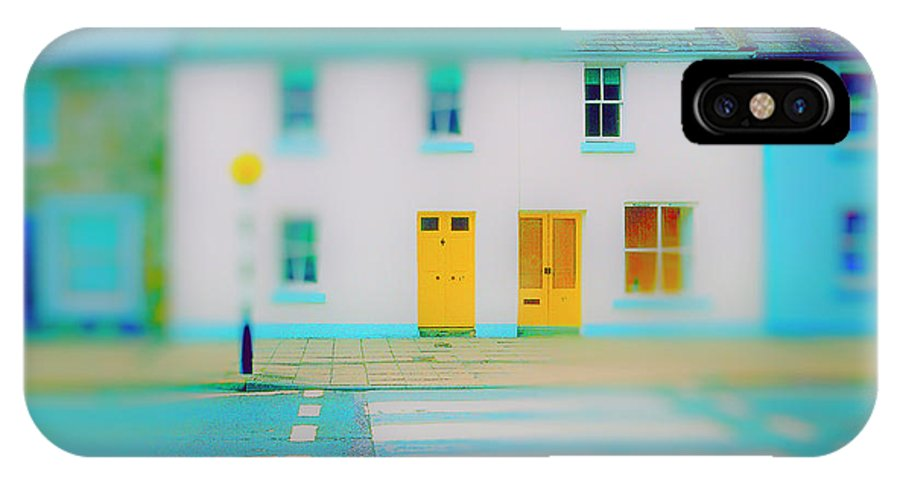 Railroad IPhone X Case featuring the photograph Yellow Doors by Jan W Faul