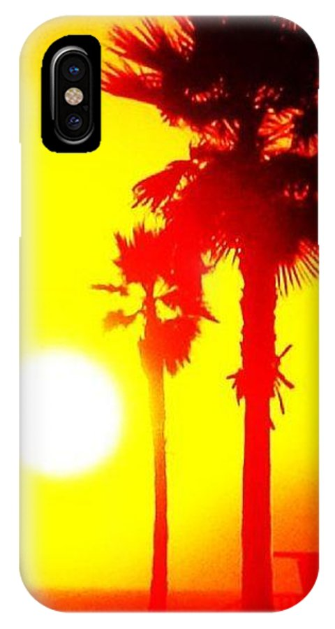 Sunset IPhone X Case featuring the photograph Yellow Eclipse by Daniele Smith