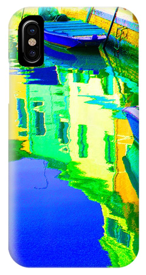 Yellow IPhone X Case featuring the digital art Yellow Toned Reflections by Donna Corless