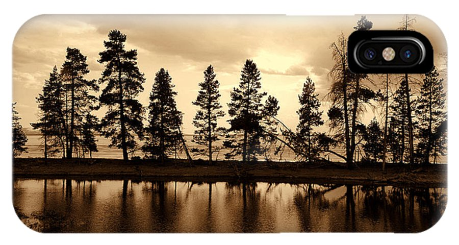 Photography IPhone X Case featuring the photograph Yellowstone Lake by Susanne Van Hulst