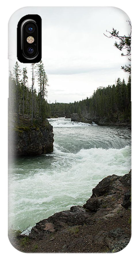 Yellowstone National Park IPhone X Case featuring the photograph Yellowstone River by Linda Kerkau