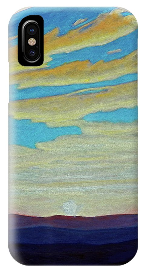 Landscape IPhone X Case featuring the painting Yesterday by Brian Commerford