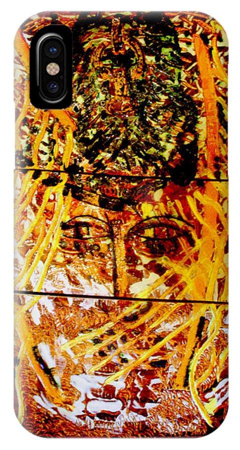 Jesus Christ IPhone X Case featuring the ceramic art Yesu Cristu by Gloria Ssali