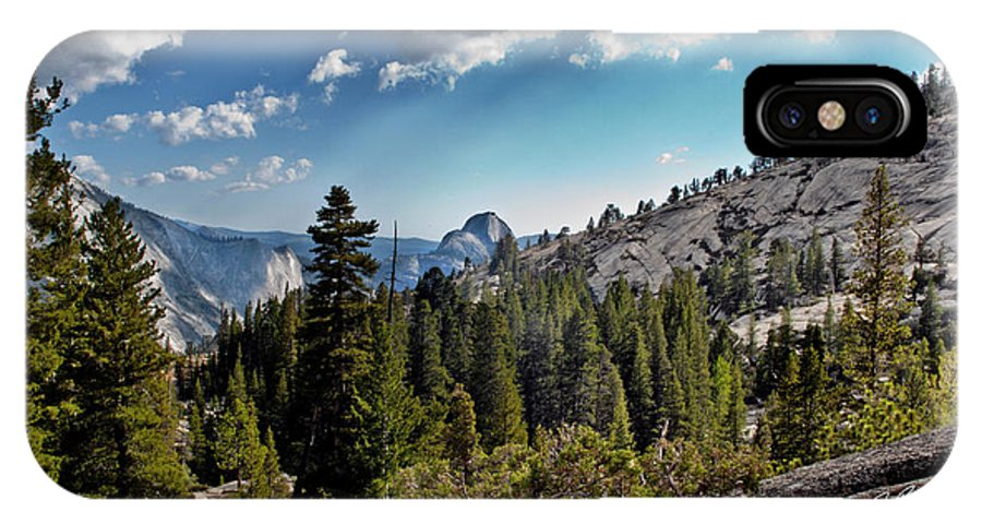 Landscape IPhone X / XS Case featuring the photograph Yosemite Half Dome 0796 by Don Brown