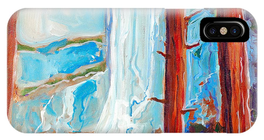 IPhone Case featuring the painting Yosemite by Kurt Hausmann