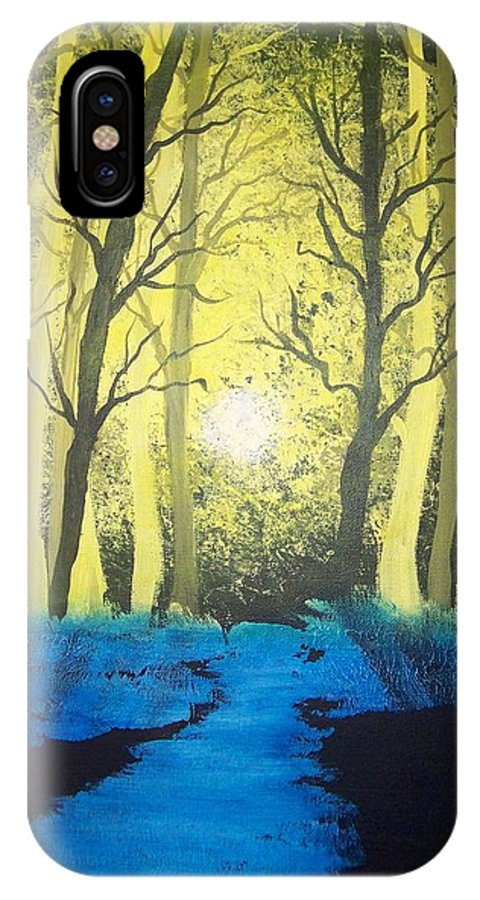 Forest IPhone X Case featuring the painting You Cant See The Forest For The Trees by Laurie Kidd
