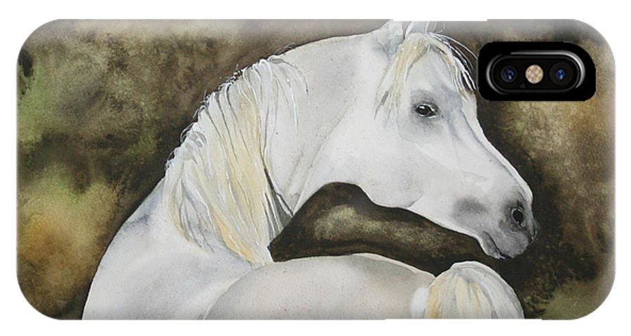 Horse IPhone Case featuring the painting You Talking To Me by Jean Blackmer