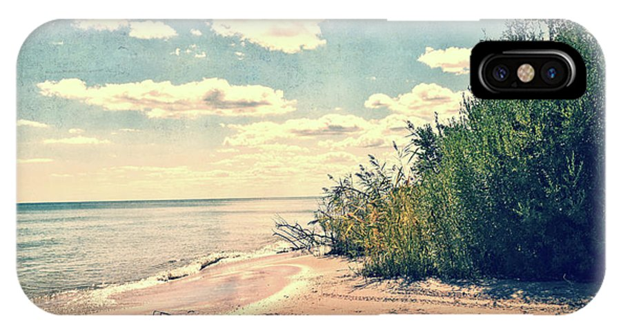 Lake Michigan IPhone X Case featuring the photograph You Walked Away - Wisconsin by Mary Machare