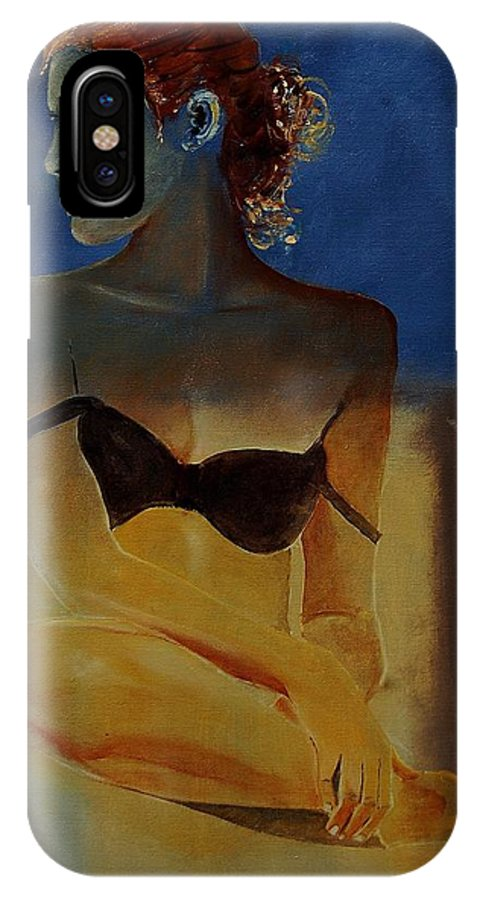 Gir IPhone X Case featuring the painting Young Girl 56902140 by Pol Ledent