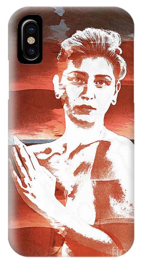 Nude IPhone X Case featuring the photograph Young Woman Nude 1729.197 by Kendree Miller