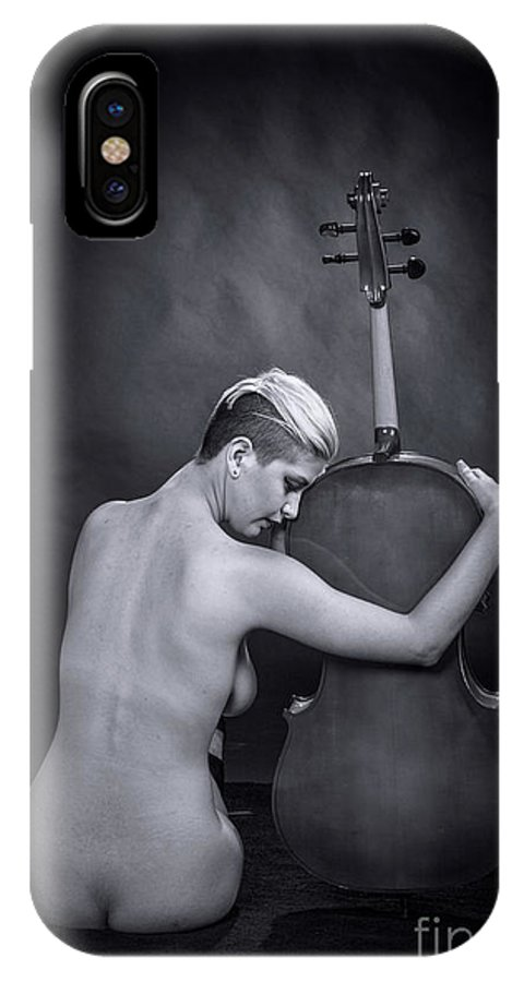 Nude IPhone X Case featuring the photograph Young Woman Nude 1729.566 by Kendree Miller