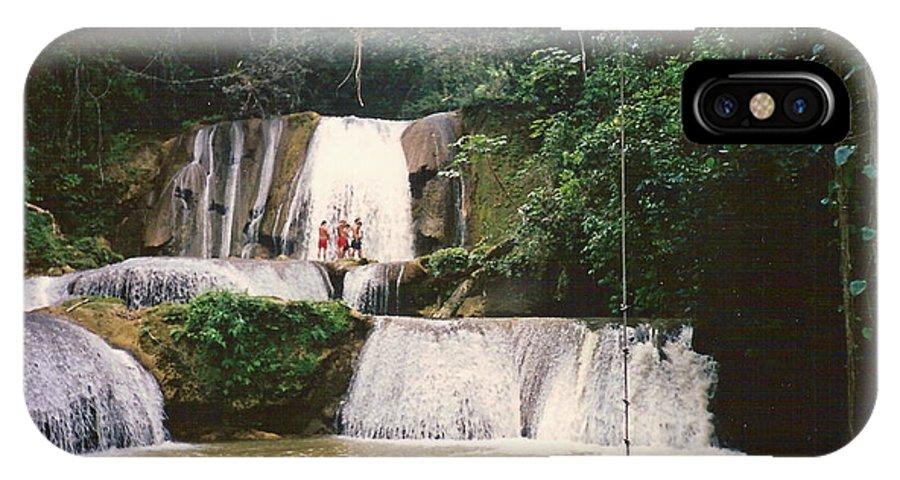 Jamaica IPhone X Case featuring the photograph Ys Falls Jamaica by Debbie Levene