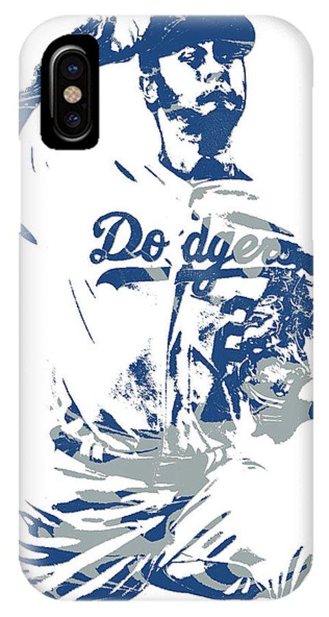b711b258816 Yu Darvish IPhone X Case featuring the mixed media Yu Darvish Los Angeles  Dodgers Pixel Art