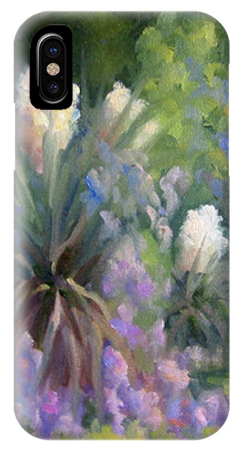 Yucca IPhone Case featuring the painting Yucca And Wisteria by Bunny Oliver