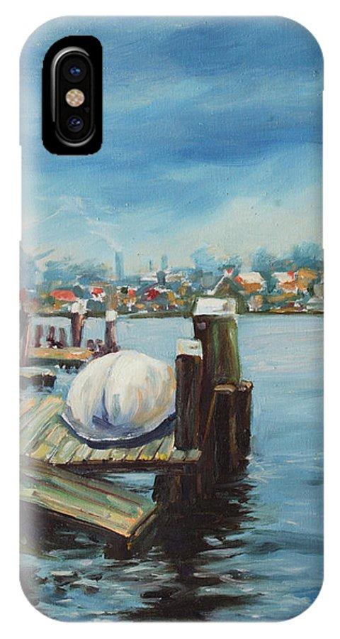 Water IPhone X Case featuring the painting Zaandam by Rick Nederlof