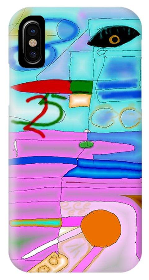 Zapp IPhone X Case featuring the digital art Zapp by Helmut Rottler