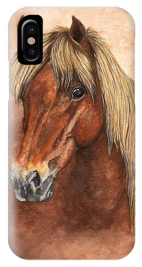 Pony IPhone X Case featuring the painting Ziggy by Kristen Wesch