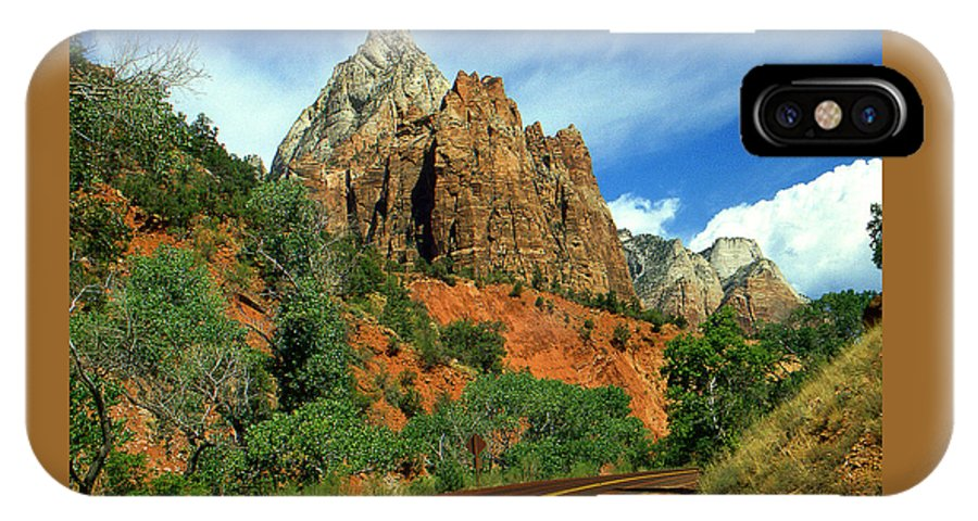 Zion IPhone X Case featuring the photograph Zion National Park Utah by Peter Potter